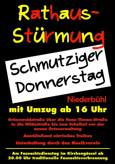 Rathausst�rmung in Niederb�hl am 20.02.2020